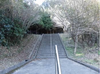 日向市東郷町2 羽坂神社 参道階段2.jpg